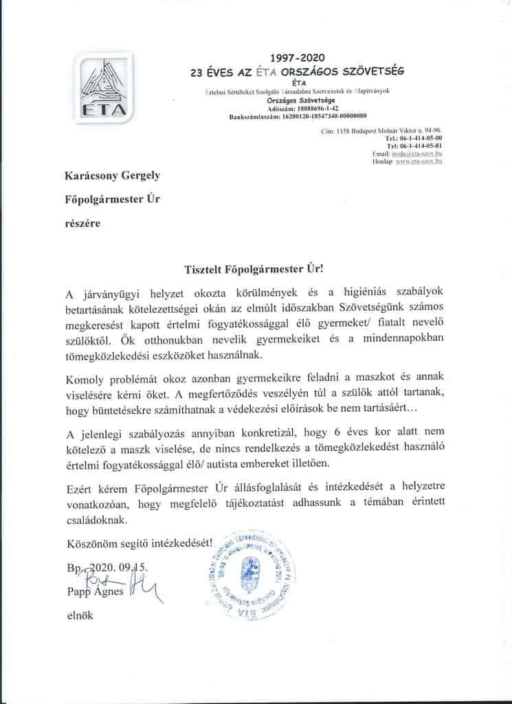 Szövetségünk hivatalos állásfoglalást kér maszk használat kérdésében