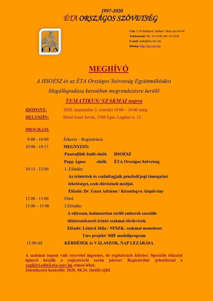 Tematikus szakmai nap Egerben